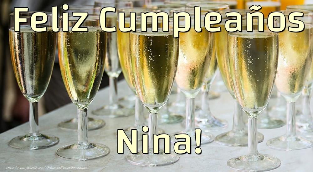 Felicitaciones de cumpleaños - Feliz Cumpleaños Nina!