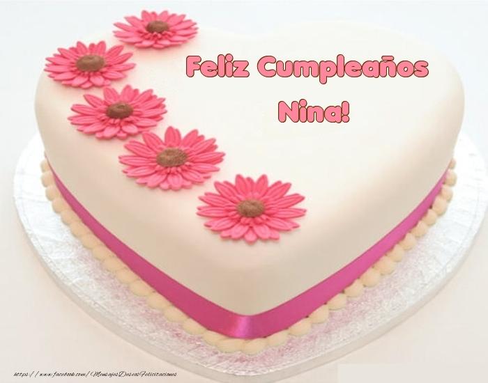 Felicitaciones de cumpleaños - Feliz Cumpleaños Nina! - Tartas