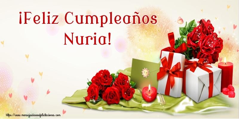 Felicitaciones de cumpleaños - ¡Feliz Cumpleaños Nuria!