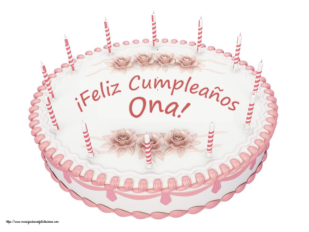 Felicitaciones de cumpleaños - ¡Feliz Cumpleaños Ona! - Tartas