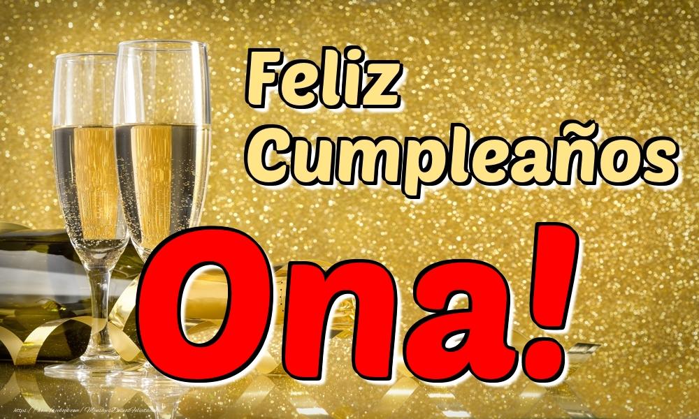 Felicitaciones de cumpleaños - Feliz Cumpleaños Ona!