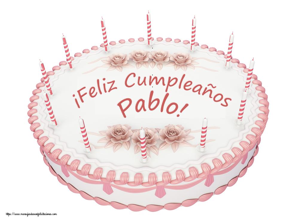 Felicitaciones de cumpleaños - ¡Feliz Cumpleaños Pablo! - Tartas