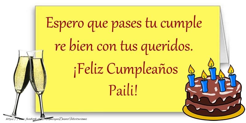 Felicitaciones de cumpleaños - Feliz cumpleaños Paili!