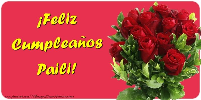 Felicitaciones de cumpleaños - ¡Feliz Cumpleaños Paili