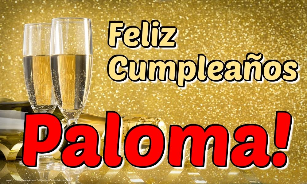 Felicitaciones de cumpleaños - Feliz Cumpleaños Paloma!