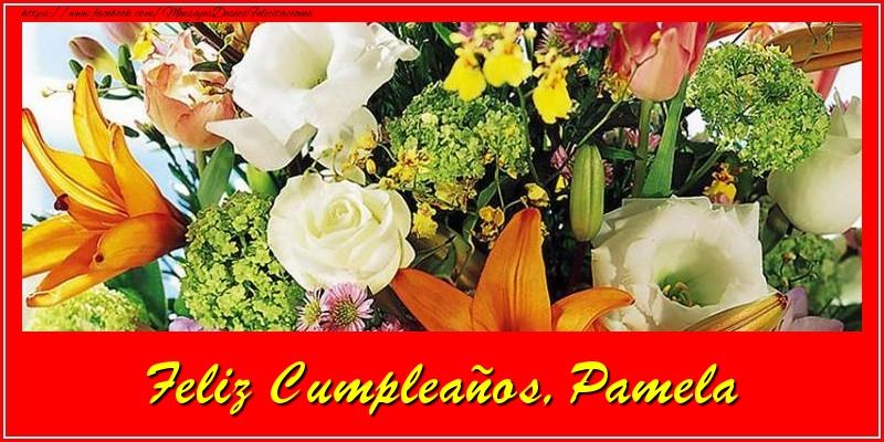 Felicitaciones de cumpleaños - Feliz cumpleaños, Pamela!