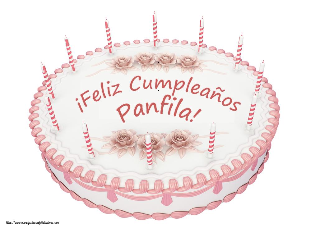 Felicitaciones de cumpleaños - ¡Feliz Cumpleaños Panfila! - Tartas