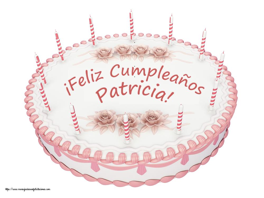 Felicitaciones de cumpleaños - ¡Feliz Cumpleaños Patricia! - Tartas