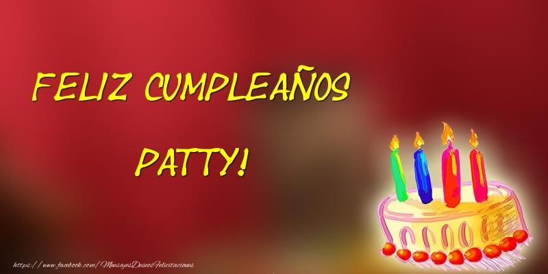 Felicitaciones de cumpleaños - Feliz cumpleaños Patty!