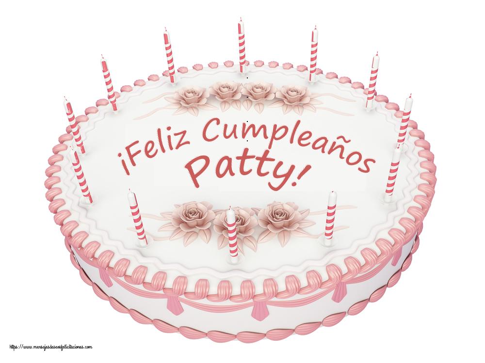 Felicitaciones de cumpleaños - ¡Feliz Cumpleaños Patty! - Tartas