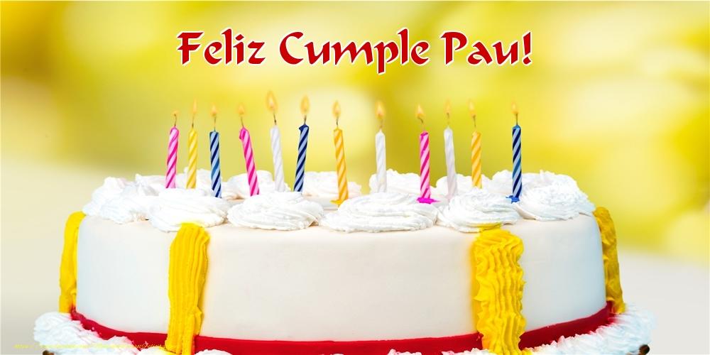 Felicitaciones de cumpleaños - Feliz Cumple Pau!