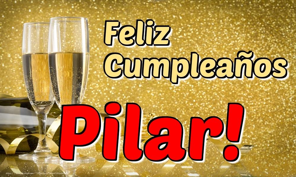 Felicitaciones de cumpleaños - Feliz Cumpleaños Pilar!