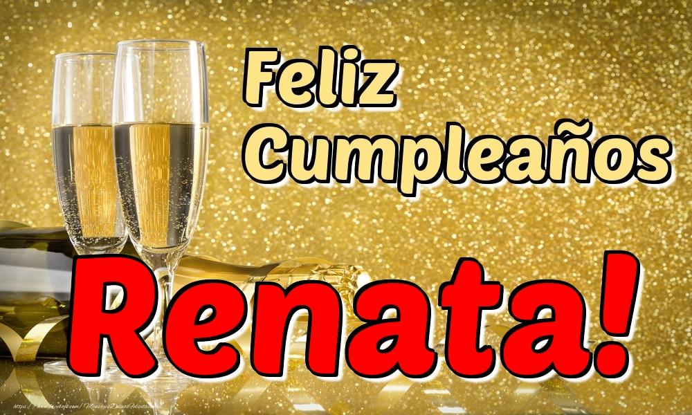 Felicitaciones de cumpleaños - Feliz Cumpleaños Renata!