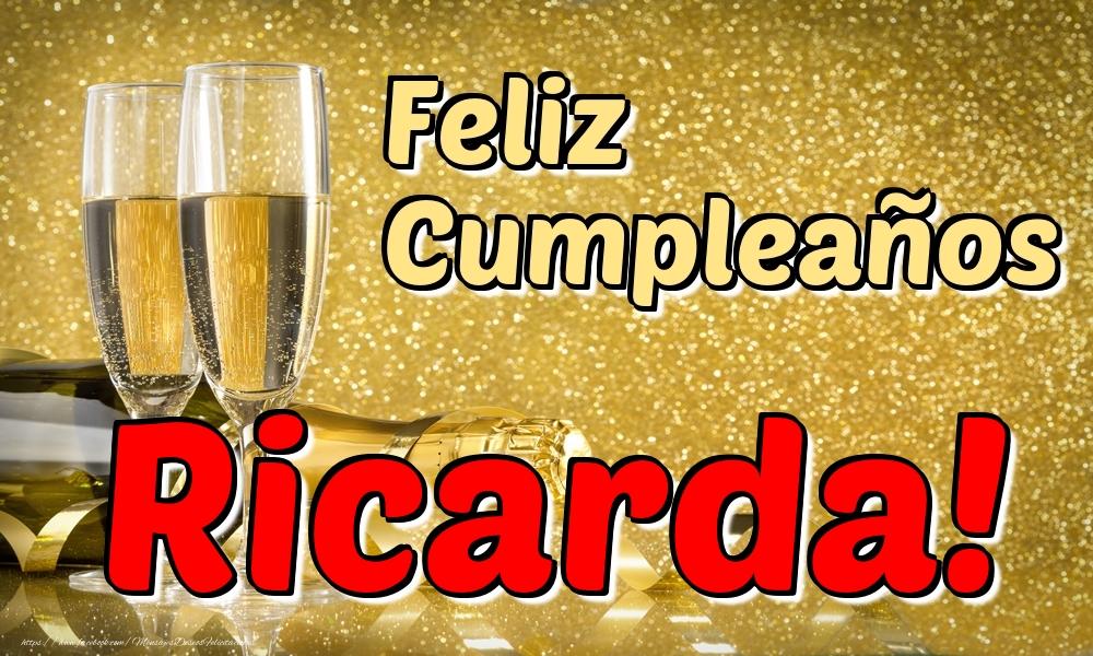 Felicitaciones de cumpleaños - Feliz Cumpleaños Ricarda!