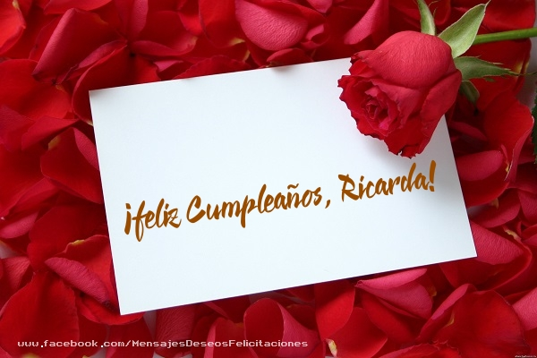 Felicitaciones de cumpleaños - ¡Feliz cumpleaños, Ricarda!