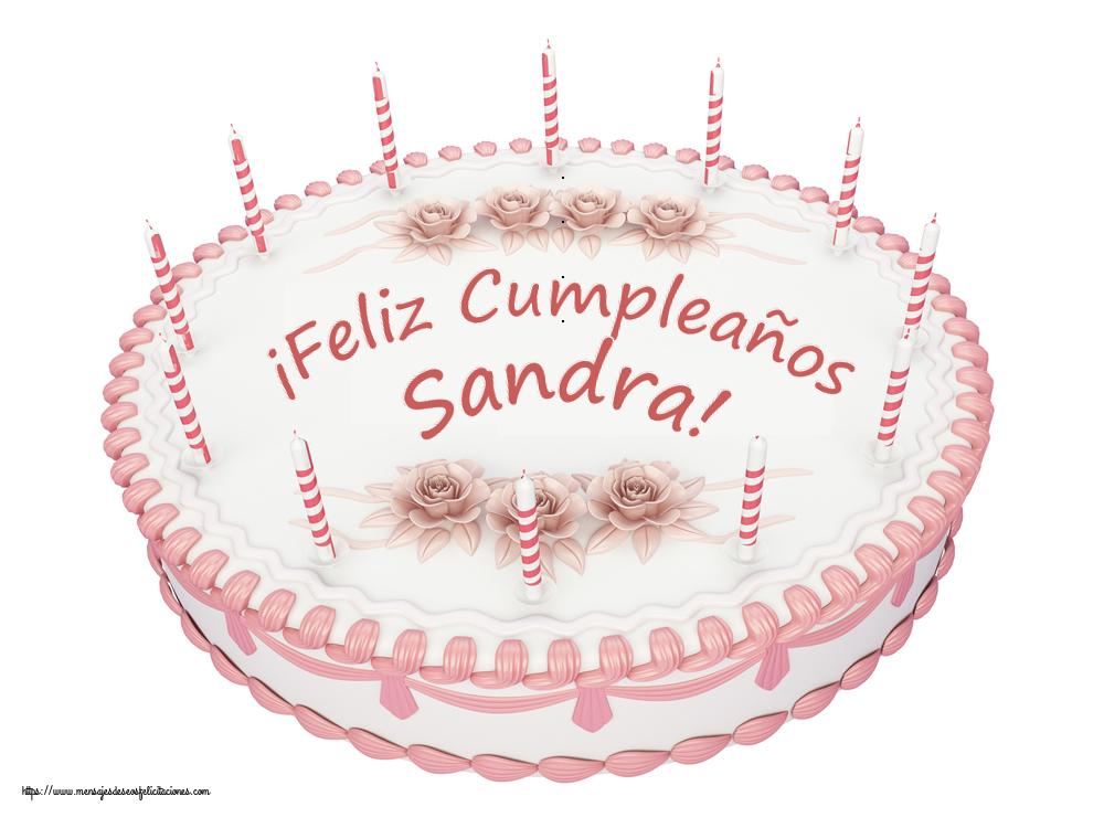 Felicitaciones de cumpleaños - ¡Feliz Cumpleaños Sandra! - Tartas