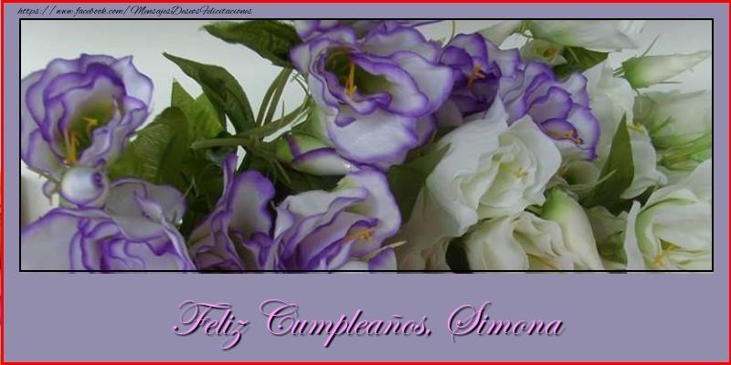 Felicitaciones de cumpleaños - Feliz cumpleaños, Simona