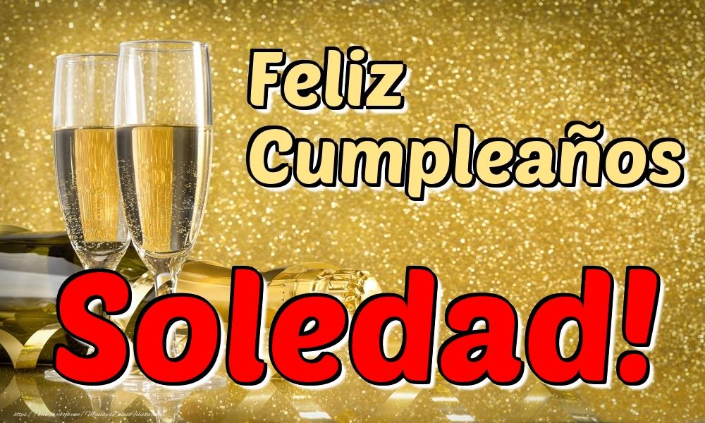 Felicitaciones de cumpleaños - Feliz Cumpleaños Soledad!