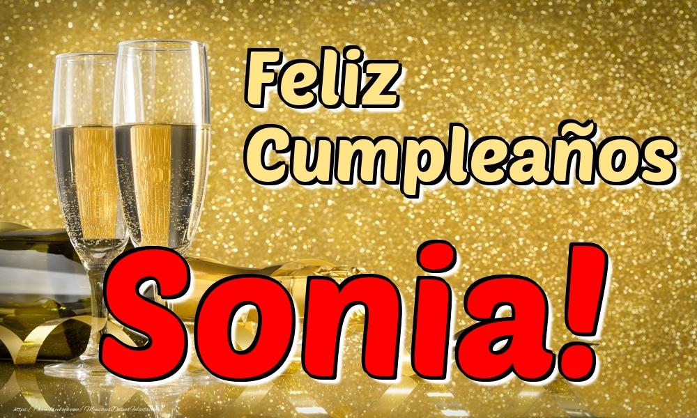 Felicitaciones de cumpleaños - Feliz Cumpleaños Sonia!