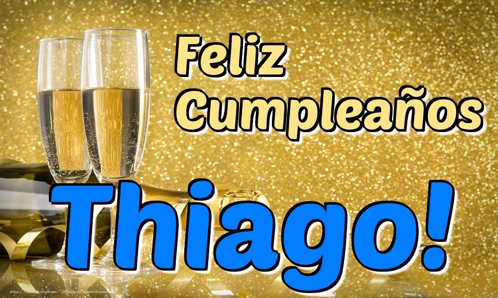 Felicitaciones de cumpleaños - Feliz Cumpleaños Thiago!