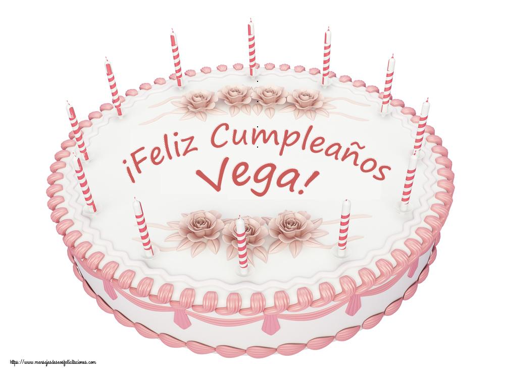 Felicitaciones de cumpleaños - ¡Feliz Cumpleaños Vega! - Tartas