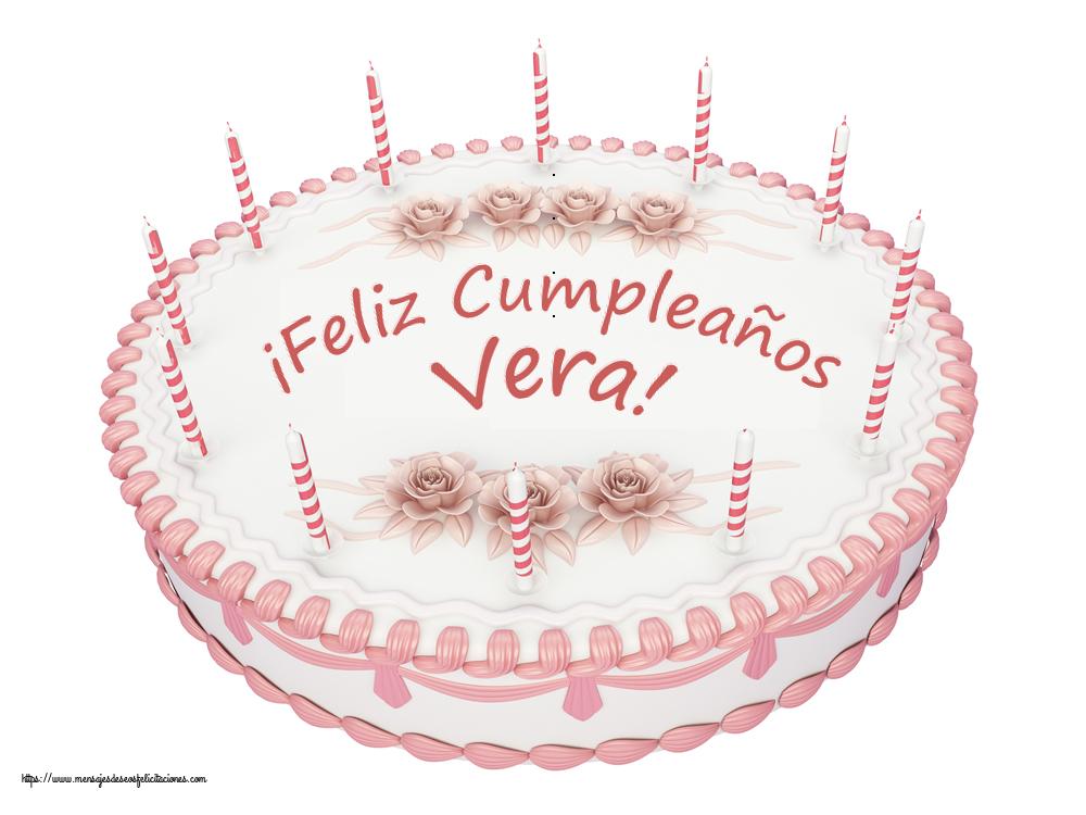 Felicitaciones de cumpleaños - ¡Feliz Cumpleaños Vera! - Tartas