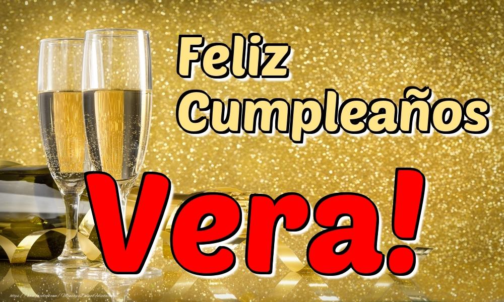Felicitaciones de cumpleaños - Feliz Cumpleaños Vera!
