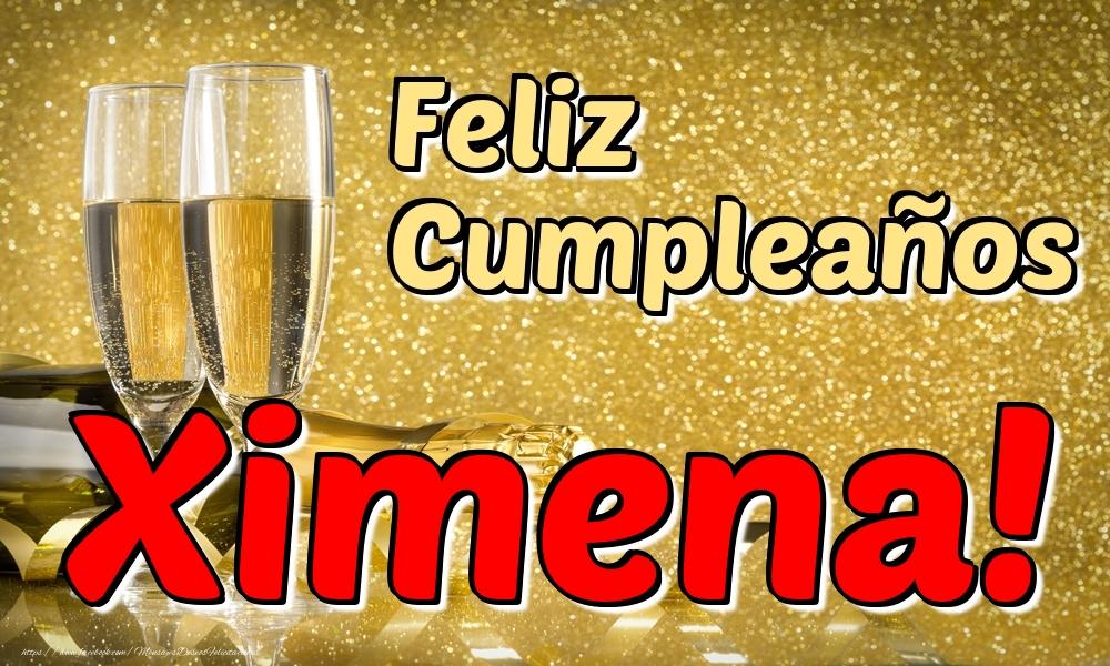 Felicitaciones de cumpleaños - Feliz Cumpleaños Ximena!