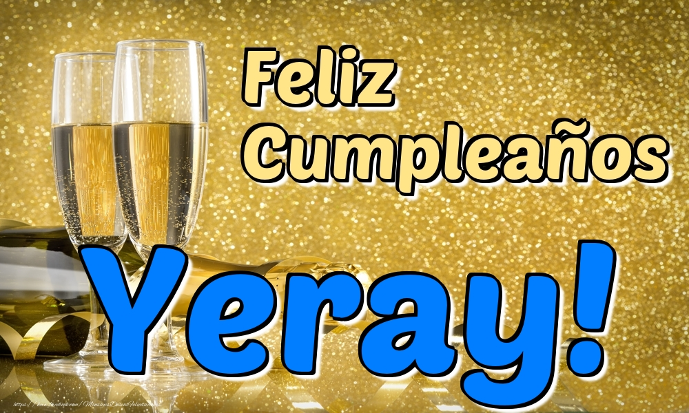 Felicitaciones de cumpleaños - Feliz Cumpleaños Yeray!