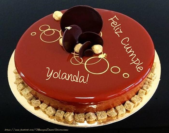 Felicitaciones de cumpleaños - Feliz Cumple Yolanda! - Tarta