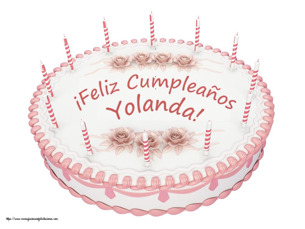 Felicitaciones de cumpleaños - ¡Feliz Cumpleaños Yolanda! - Tartas