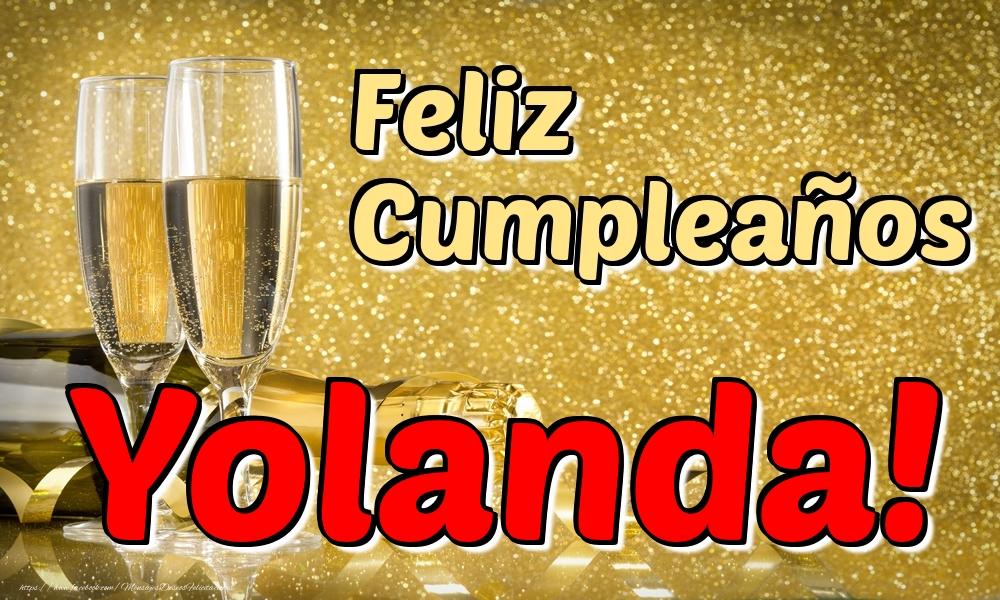 Felicitaciones de cumpleaños - Feliz Cumpleaños Yolanda!