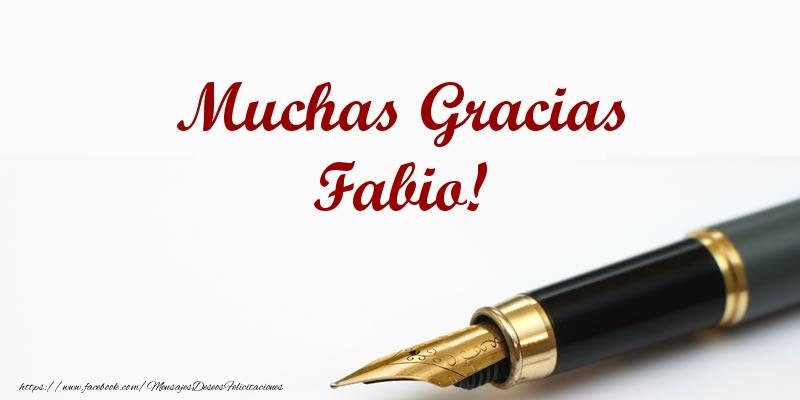 Felicitaciones de gracias - Muchas Gracias Fabio!
