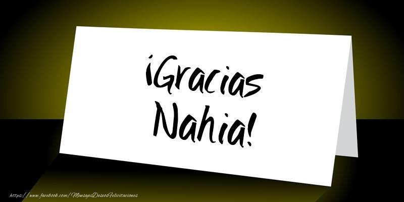 Felicitaciones de gracias - ¡Gracias Nahia!