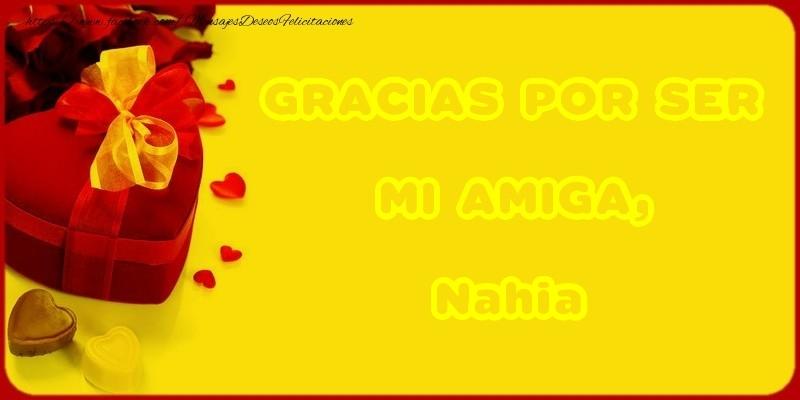 Felicitaciones de gracias - GRACIAS POR SER MI AMIGA, Nahia