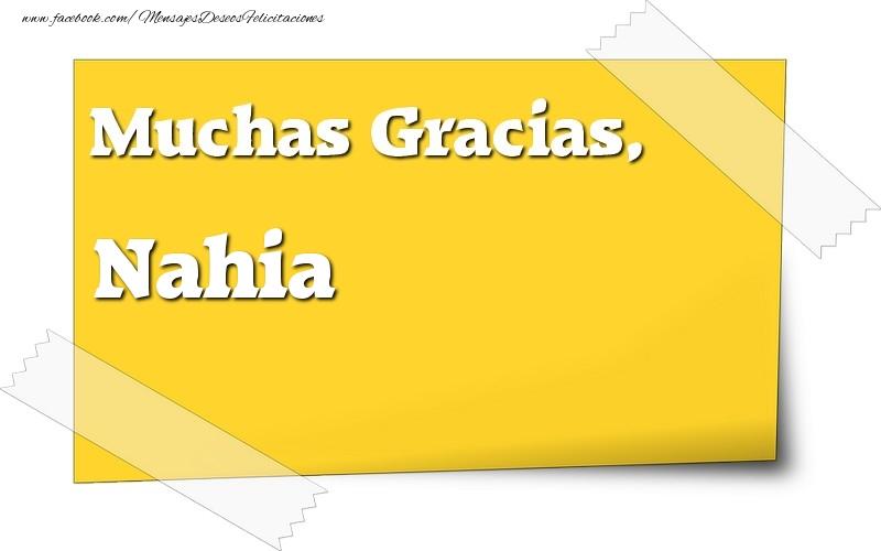 Felicitaciones de gracias - Muchas Gracias, Nahia