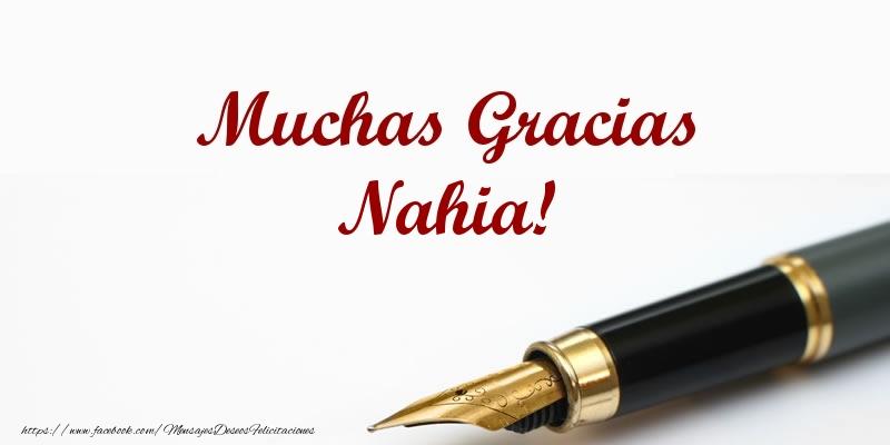 Felicitaciones de gracias - Muchas Gracias Nahia!