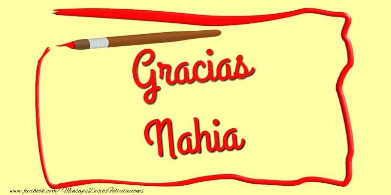 Felicitaciones de gracias - Gracias Nahia