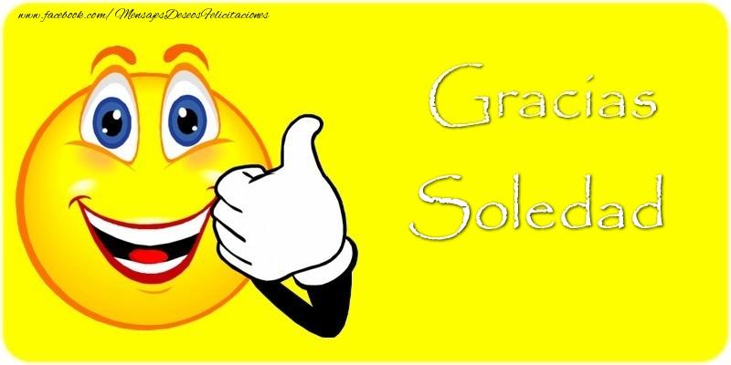 Felicitaciones de gracias - Gracias Soledad