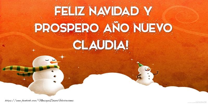 Descargar Felicitaciones De Navidad Y Ano Nuevo Gratis.Feliz Navidad Y Prospero Ano Nuevo Claudia Felicitaciones