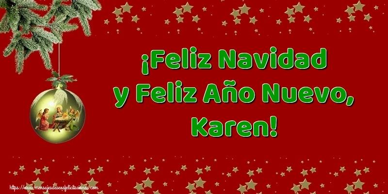 Descargar Felicitaciones De Navidad Y Ano Nuevo Gratis.Feliz Navidad Y Feliz Ano Nuevo Karen Felicitaciones De