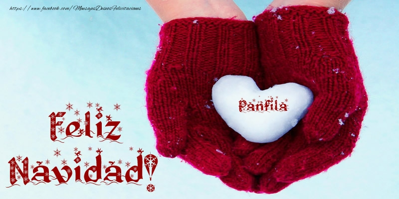 Felicitaciones de Navidad - Feliz Navidad, Panfila!