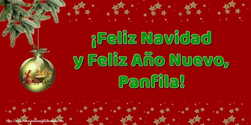 Felicitaciones de Navidad - ¡Feliz Navidad y Feliz Año Nuevo, Panfila!