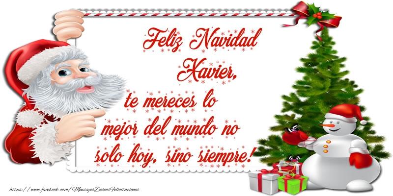 Feliz navidad xavier