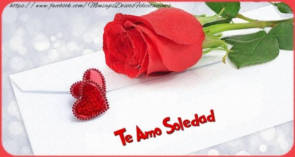 Felicitaciones de San Valentín - Te amo Soledad