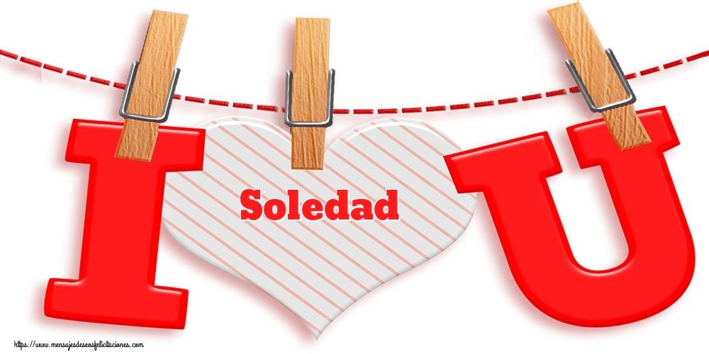 Felicitaciones de San Valentín - I Love You Soledad