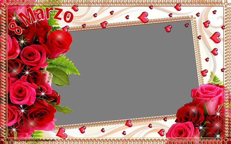 Felicitaciones Personalizadas para el día de la mujer - 8 Marzo - Marco de foto de Feliz Día de la Mujer
