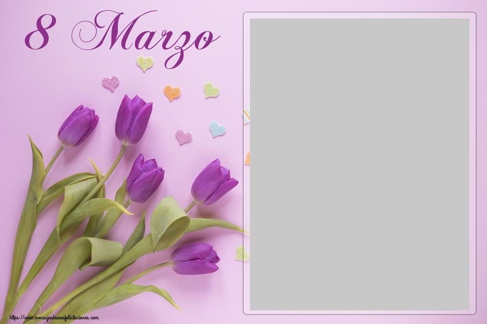 Felicitaciones Personalizadas para el día de la mujer - 8 Marzo - Marco de foto