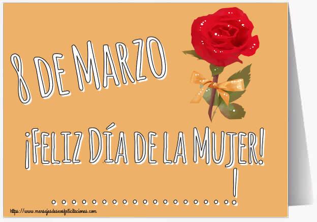 Felicitaciones Personalizadas para el día de la mujer - 8 de Marzo ¡Feliz Día de la Mujer! ...!
