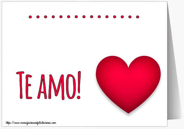 Felicitaciones Personalizadas de amor - ... Te amo!